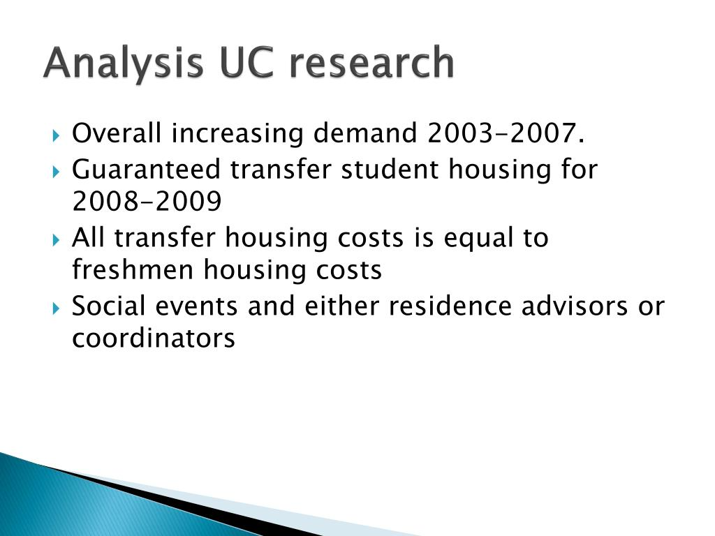 Analysis UC research