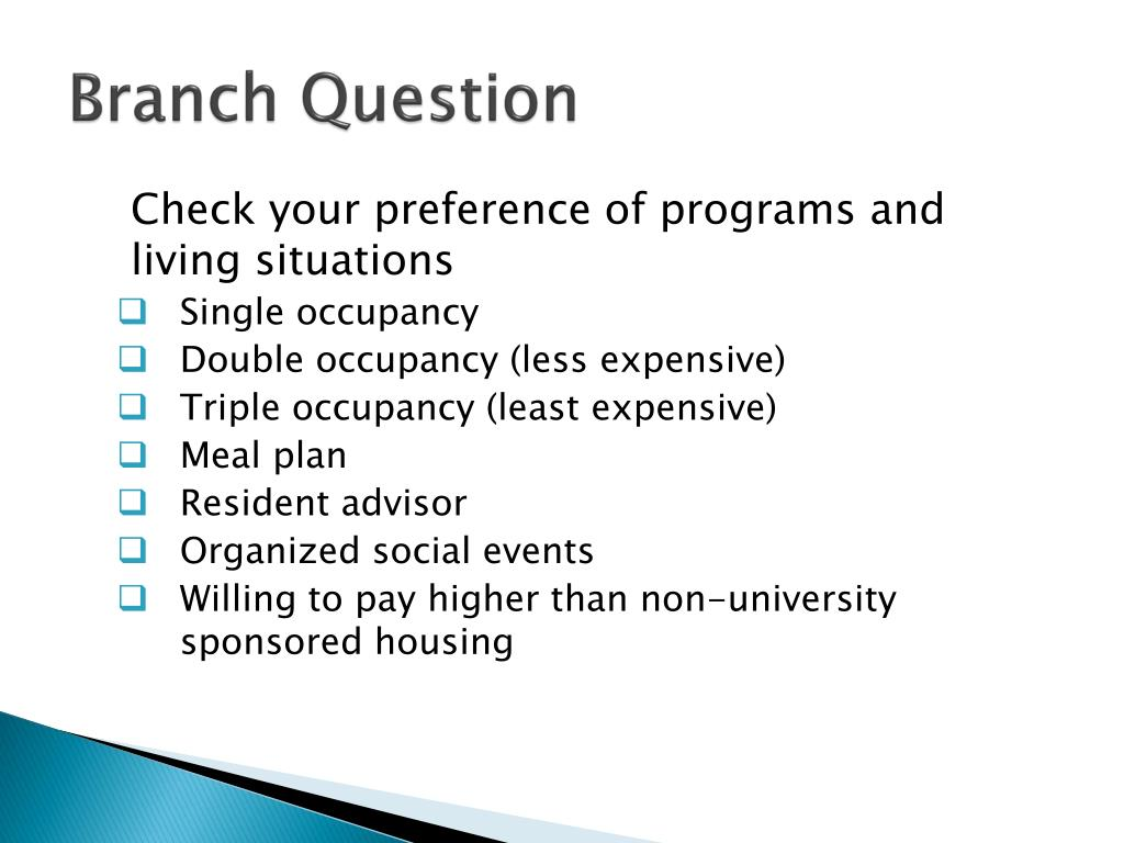 Branch Question