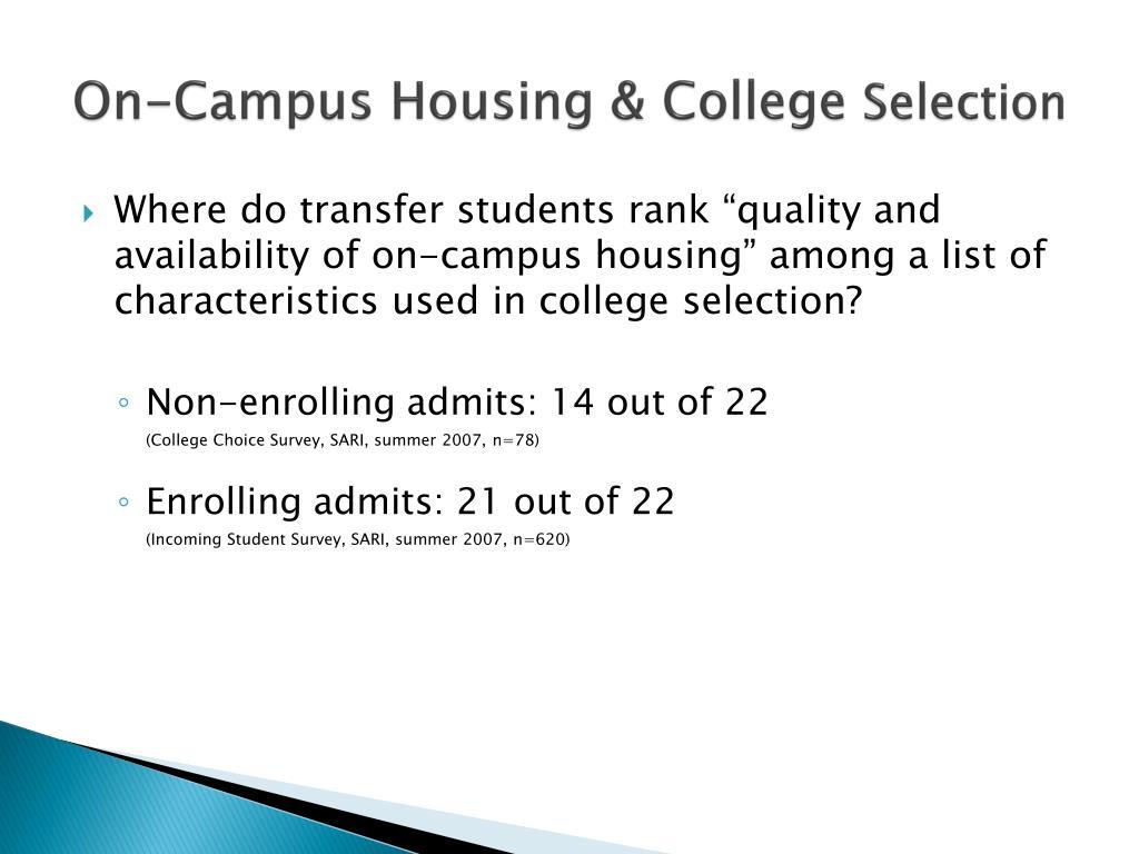 On-Campus Housing & College
