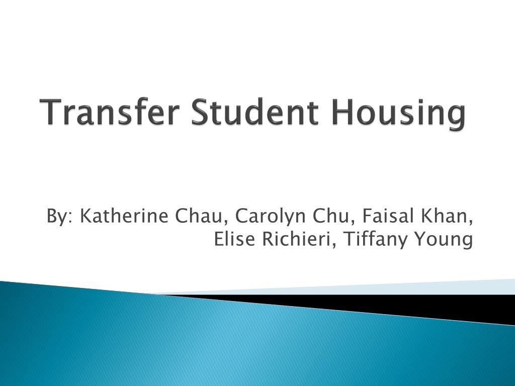 Transfer Student Housing