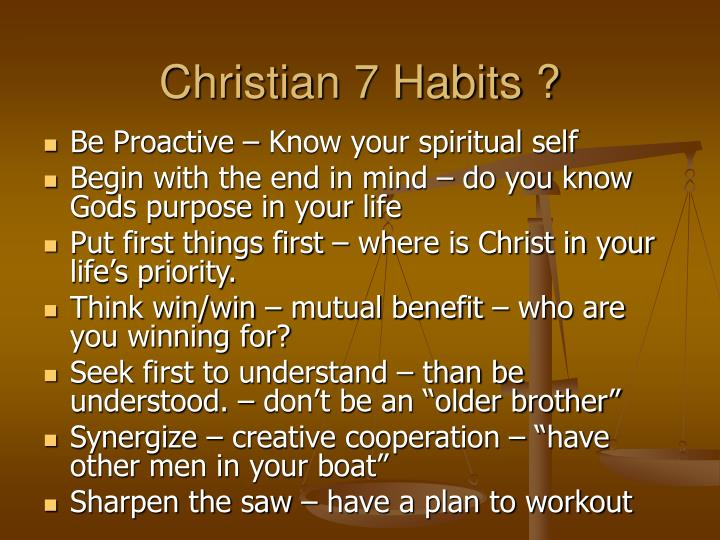 Christian 7 Habits ?