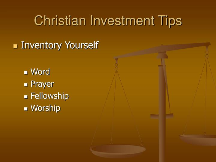Christian Investment Tips