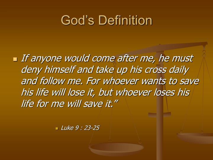 God's Definition