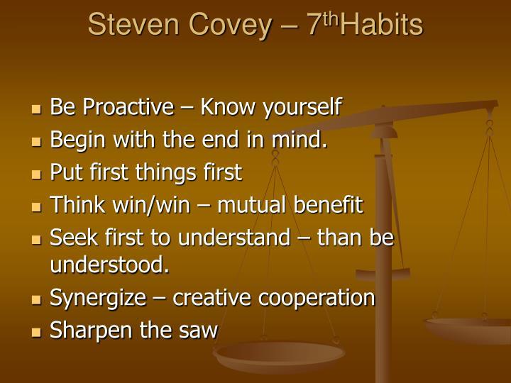 Steven Covey – 7