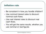 inflation rule