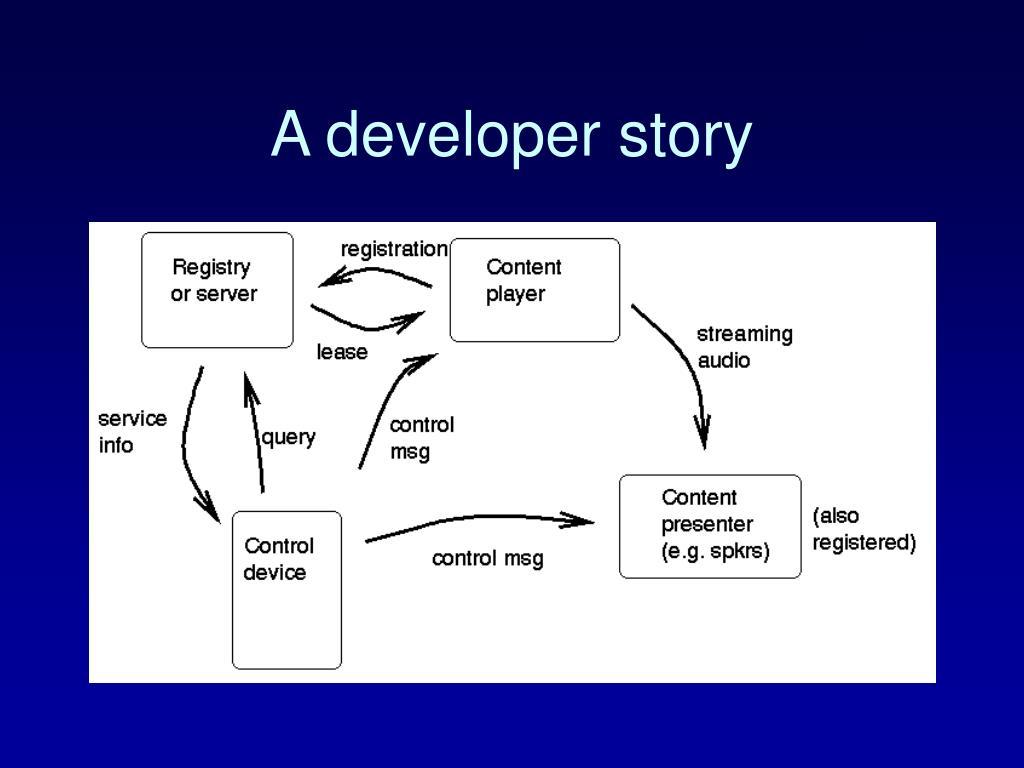 A developer story