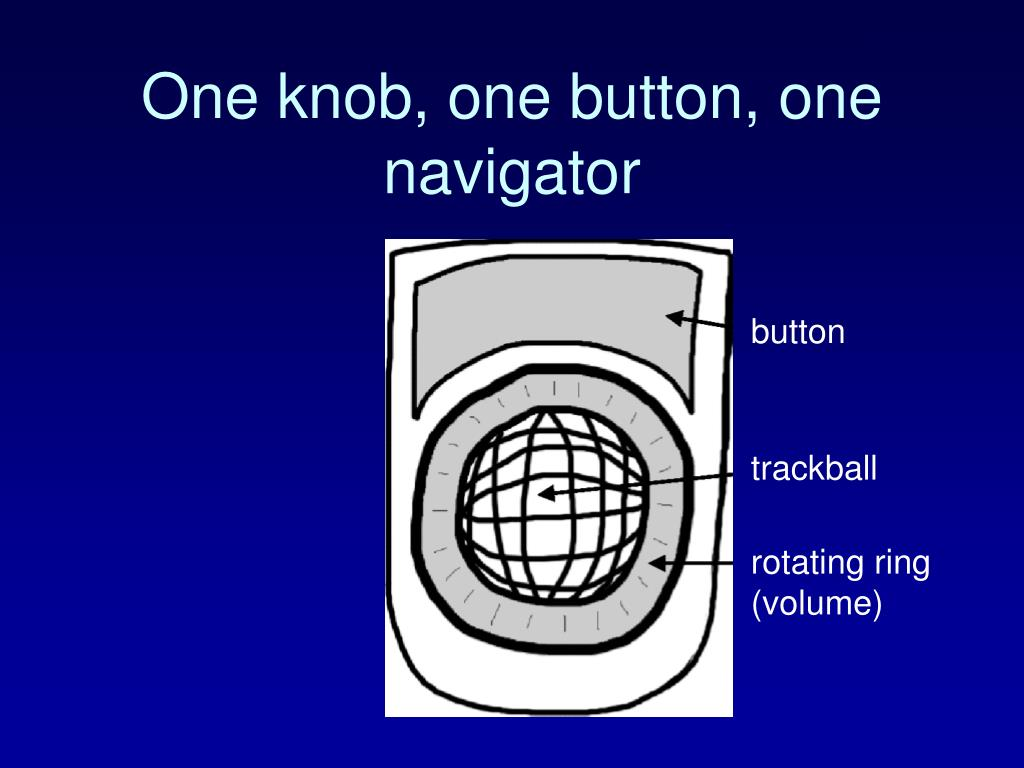 One knob, one button, one navigator
