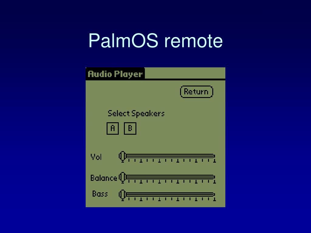 PalmOS remote