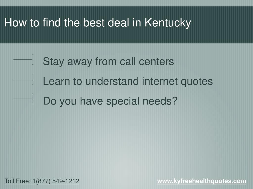 How to find the best deal in Kentucky