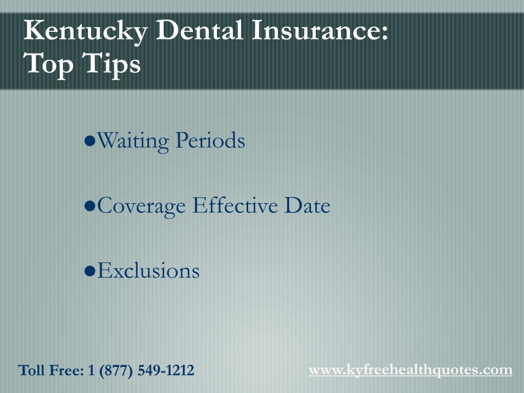 Kentucky Dental Insurance: