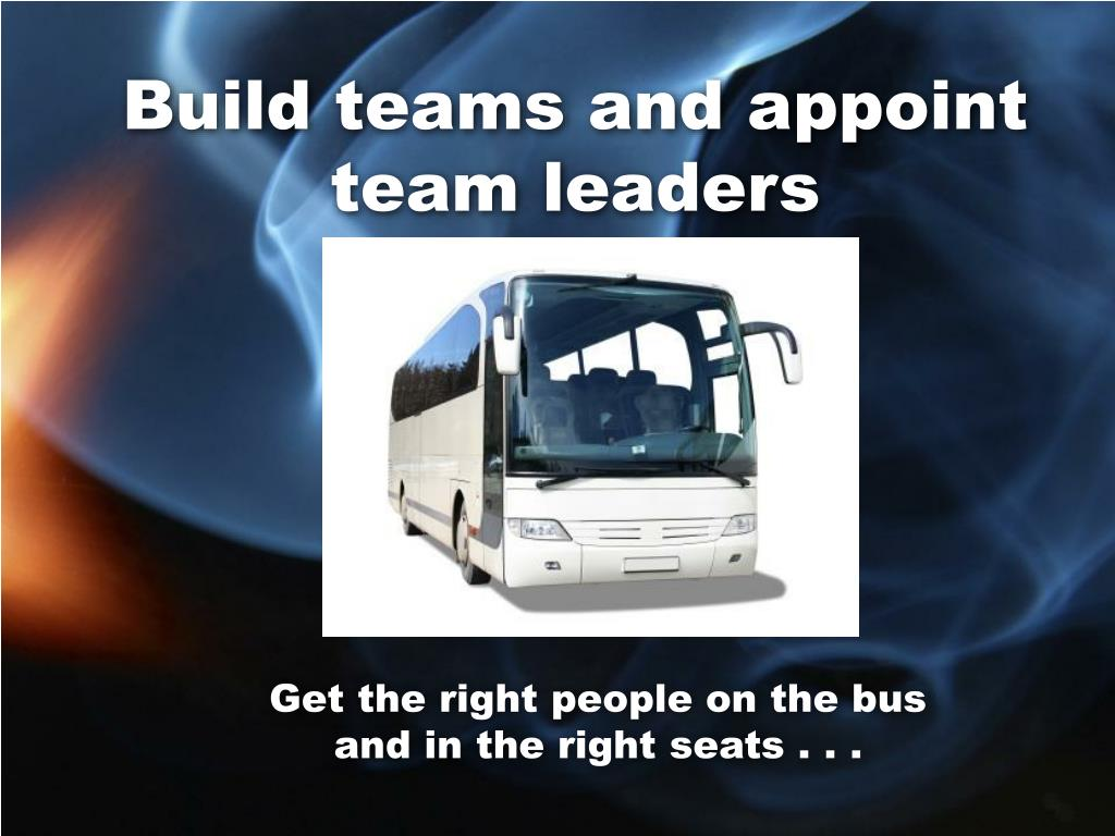 Build teams and appoint team leaders