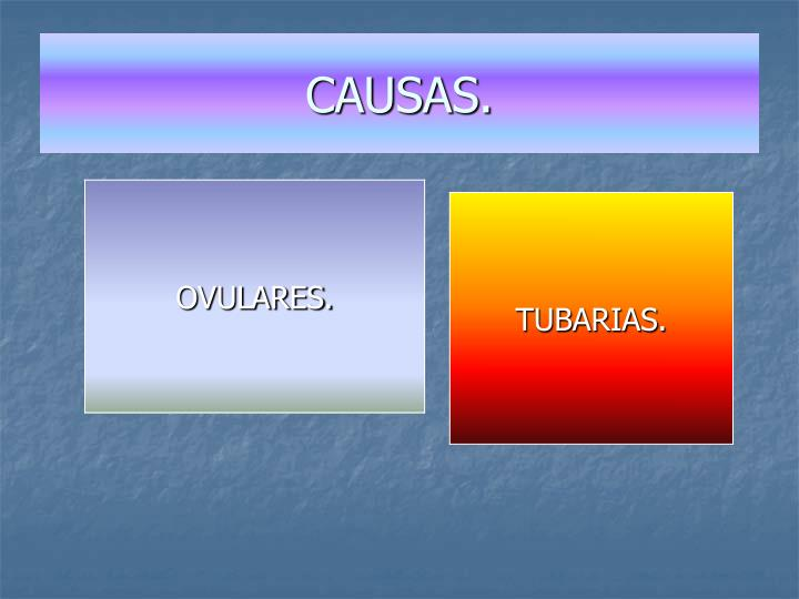 CAUSAS.