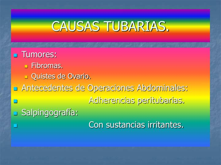 CAUSAS TUBARIAS.
