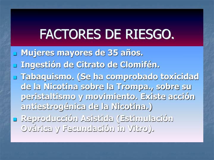 FACTORES DE RIESGO.