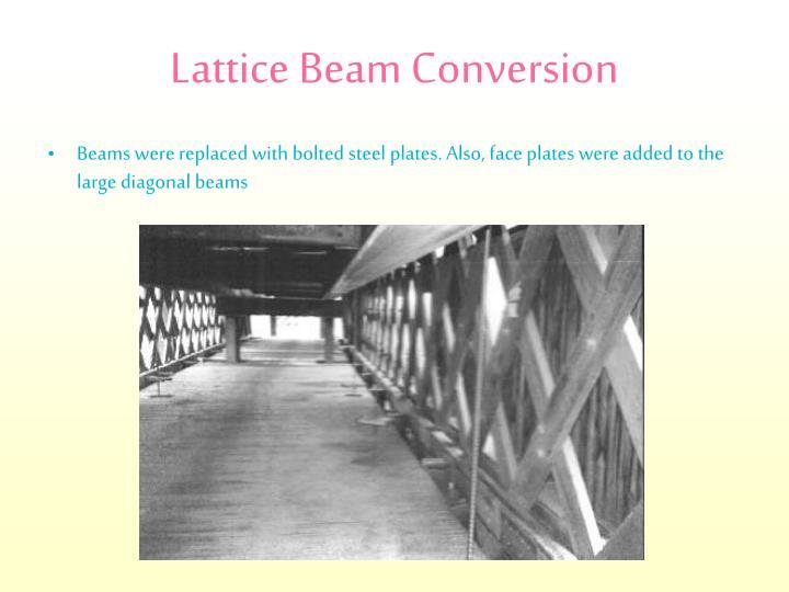 Lattice Beam Conversion