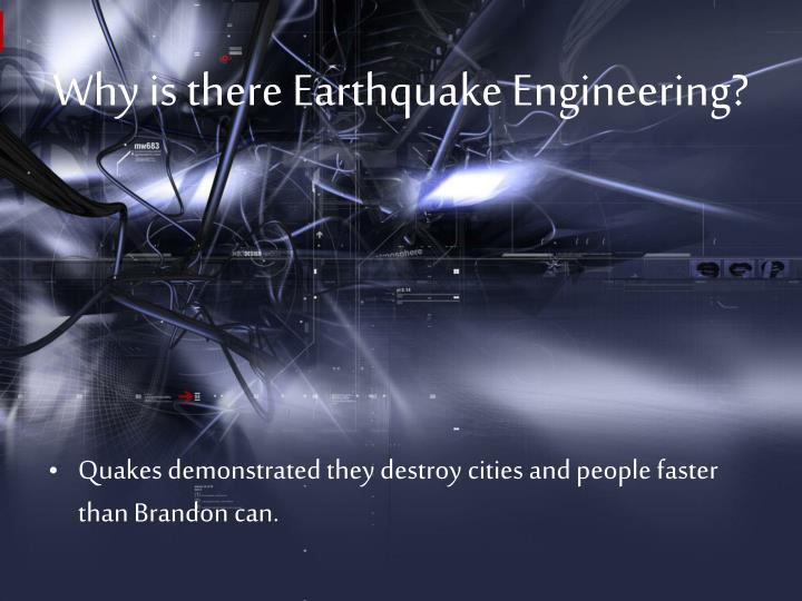 Why is there Earthquake Engineering?