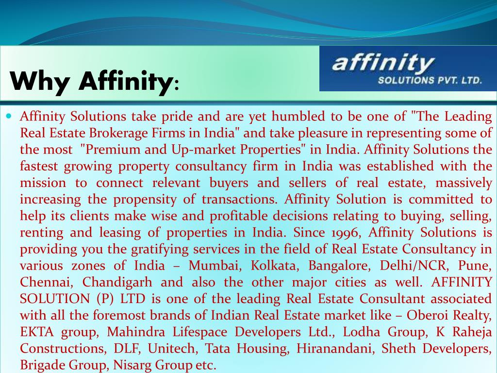 Why Affinity: