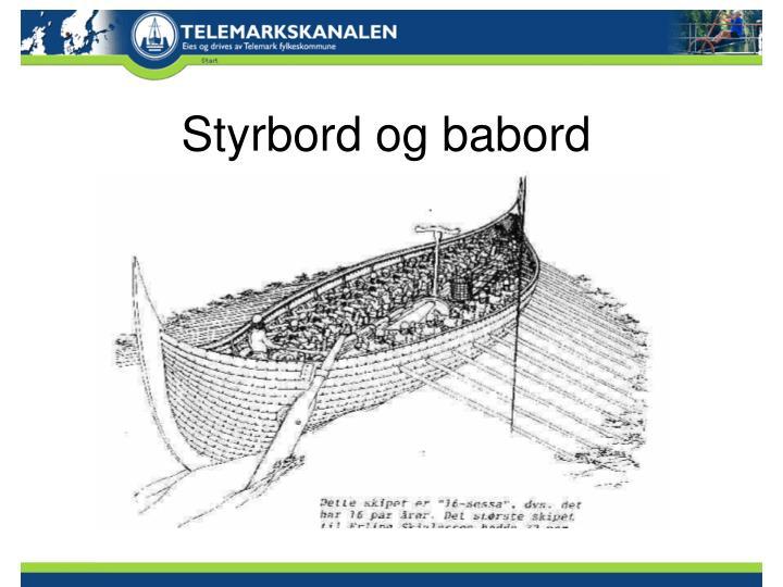 Styrbord og babord