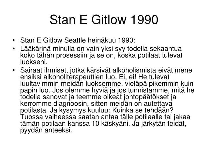 Stan E Gitlow 1990