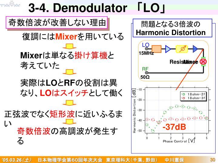 3-4. Demodulator