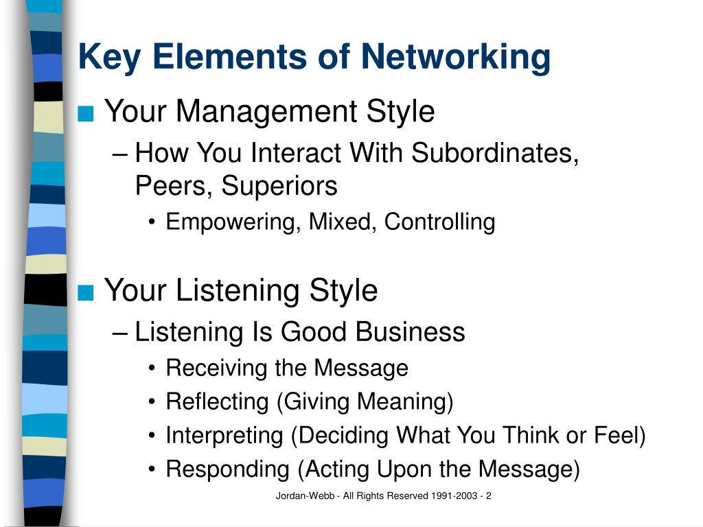 Key Elements of Networking