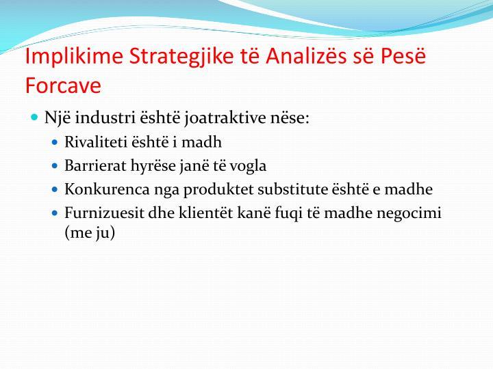 Implikime Strategjike të Analizës së Pesë Forcave