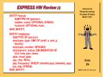 express hw review 3