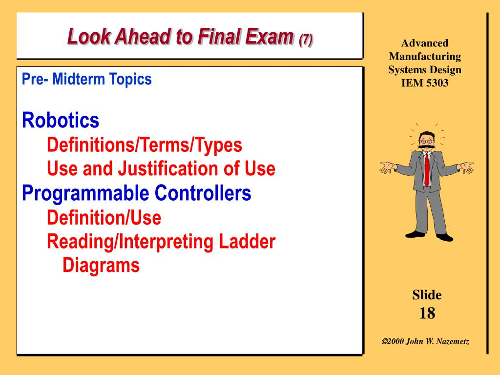 Look Ahead to Final Exam
