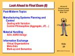 look ahead to final exam 8