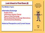 look ahead to final exam 9