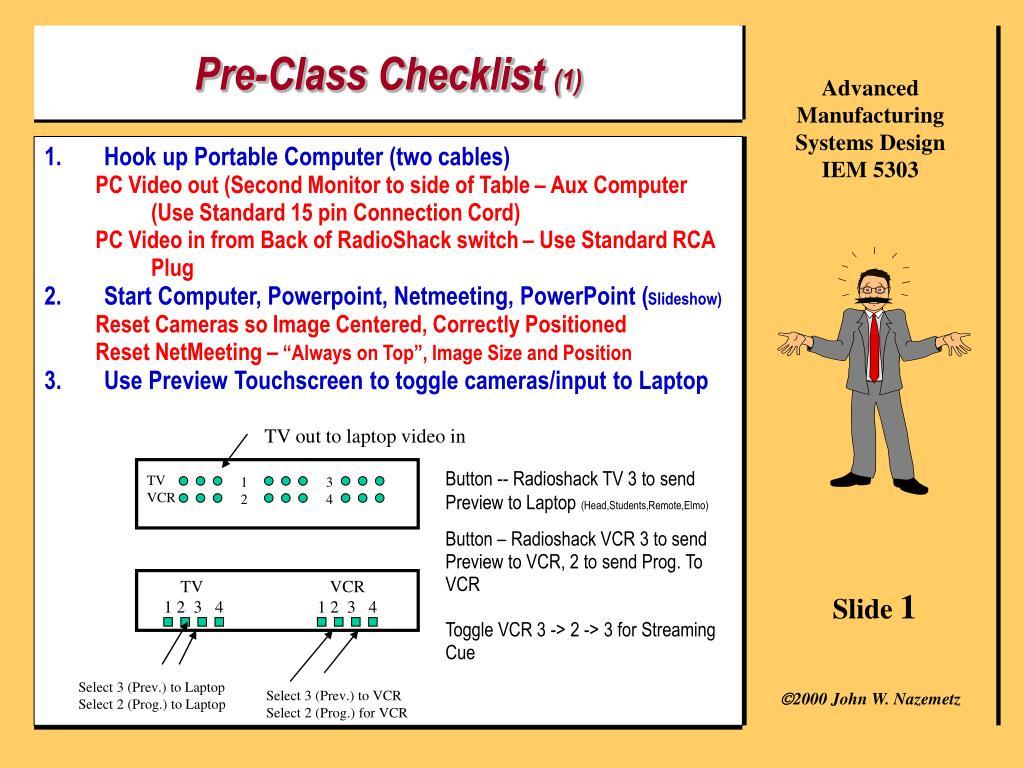 pre class checklist 1