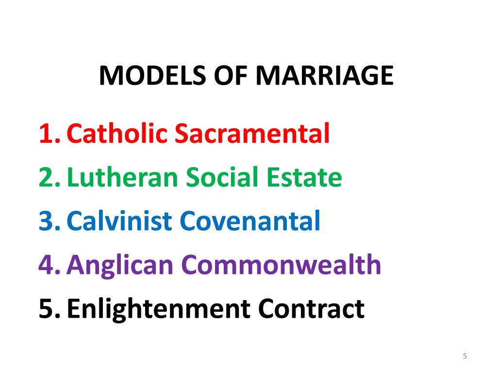 MODELS OF MARRIAGE