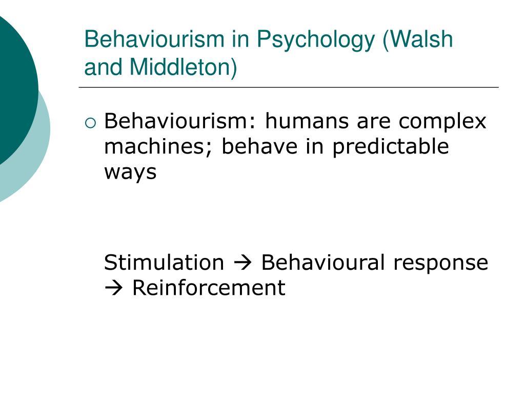 Behaviourism in Psychology (Walsh and Middleton)