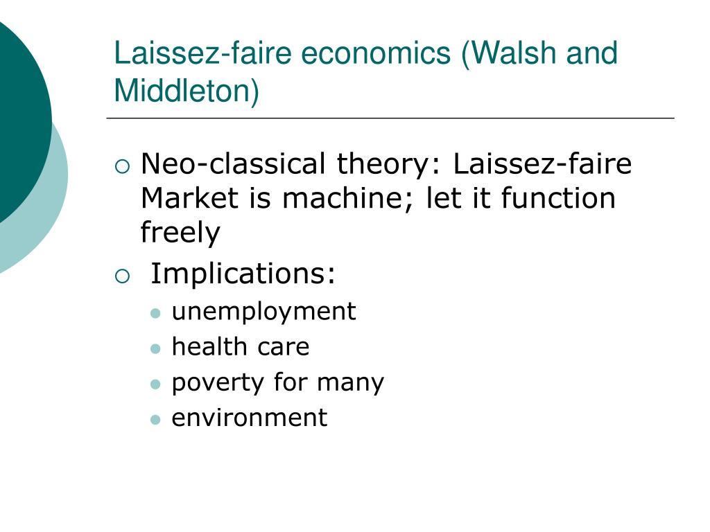 Laissez-faire economics (Walsh and Middleton)