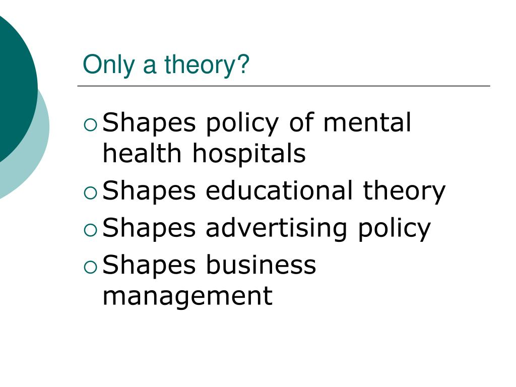 Only a theory?
