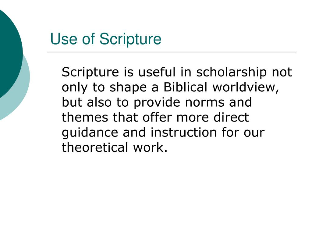 Use of Scripture