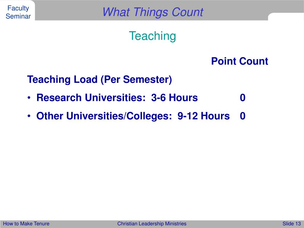 What Things Count