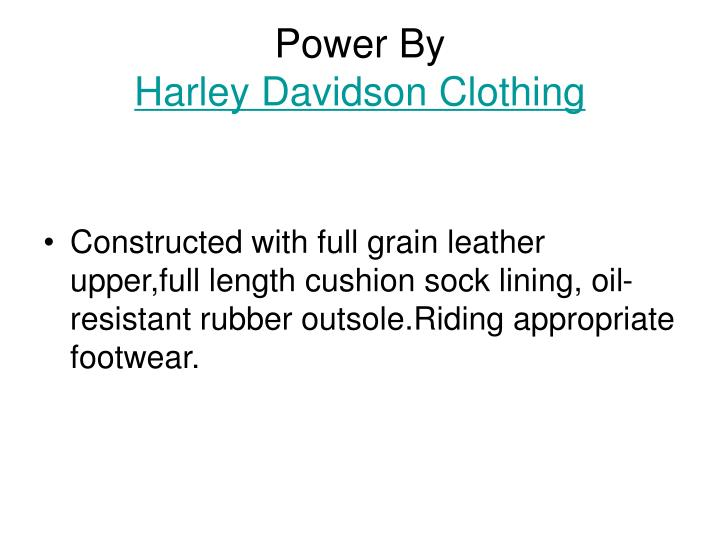 Power by harley davidson clothing