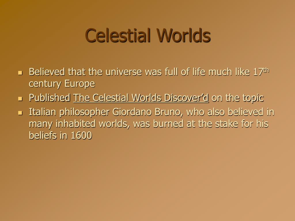 Celestial Worlds