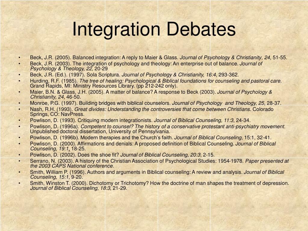 Integration Debates