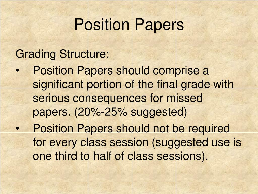 Position Papers