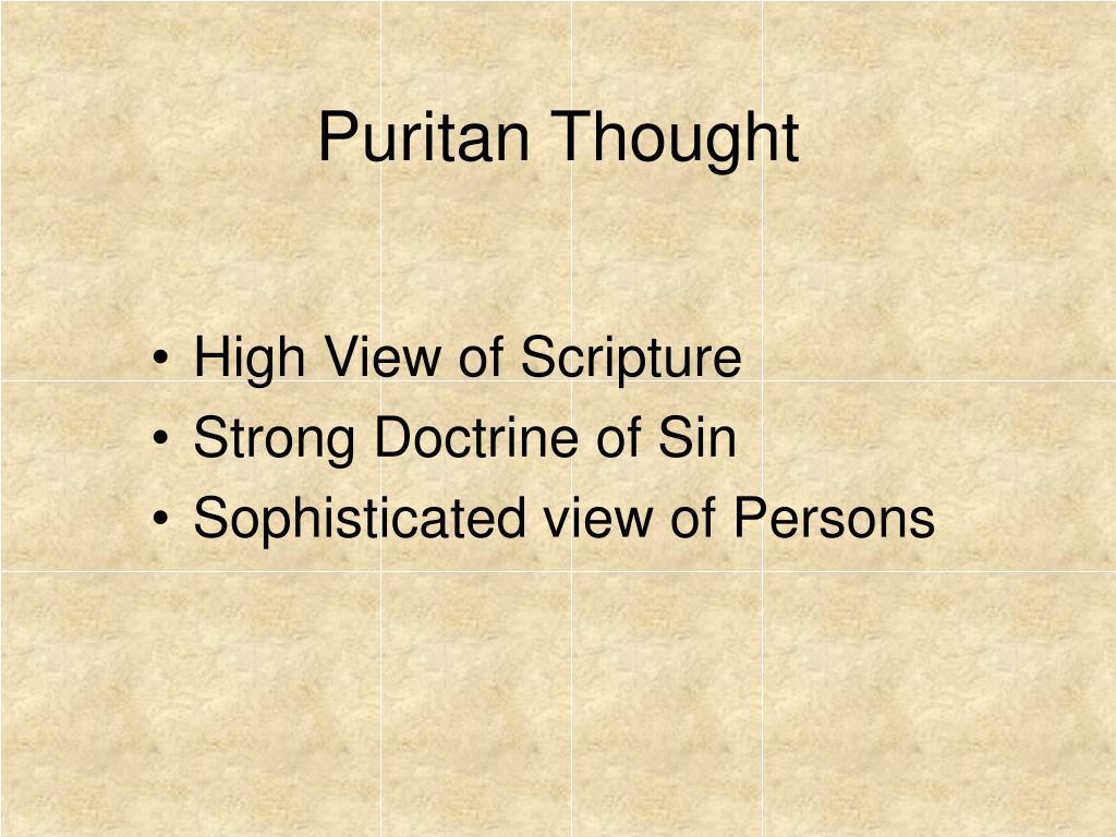 Puritan Thought