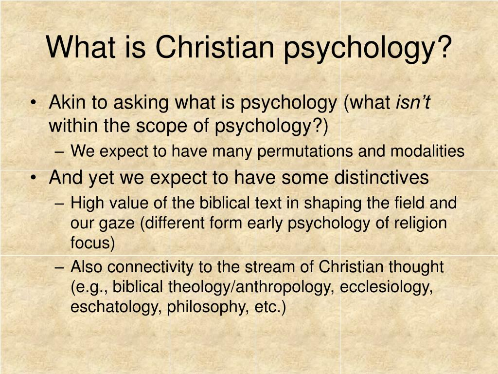 What is Christian psychology?