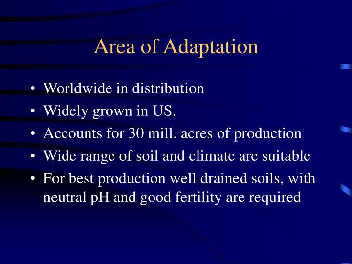 Area of Adaptation