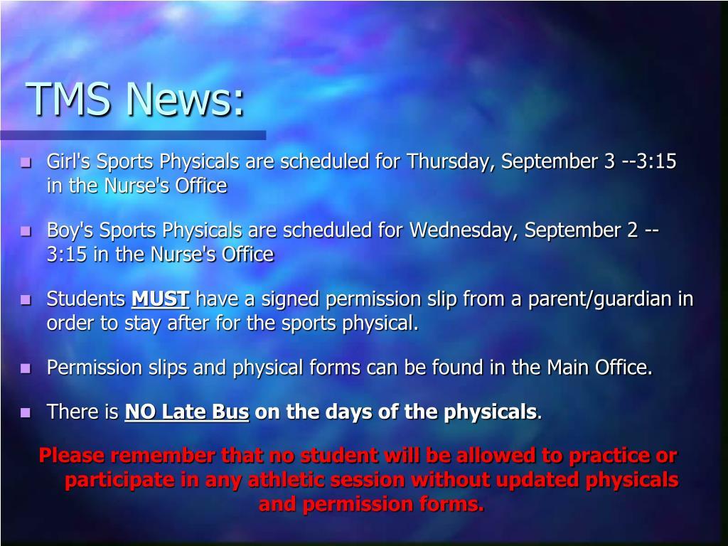 TMS News: