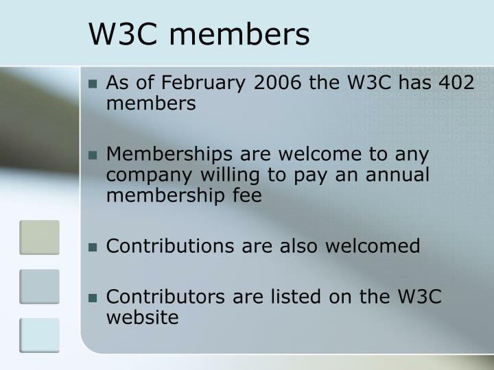 W3C members