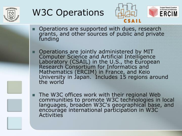 W3C Operations