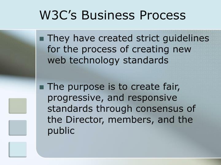 W3C's Business Process