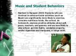 music and student behaviors1