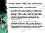 music math and the curriculum